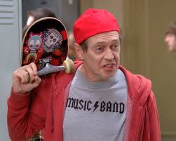 "A screen grab from the popular TV show 30 Rock, where Steve Buscemi says ""How do you do, fellow kids?"""