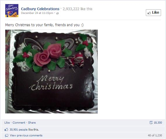 Cadbury's Celebrations Chocolate Cake Post