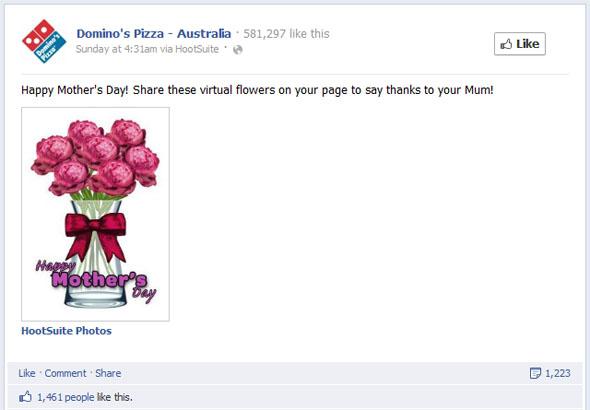 Dominos Australia Mothers Day Post