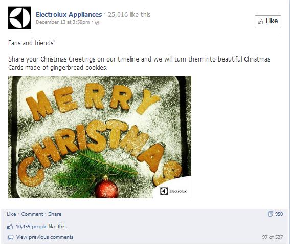 Electrolux Christmas Post