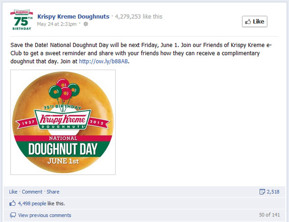Most Engaging Krispy Kreme Post