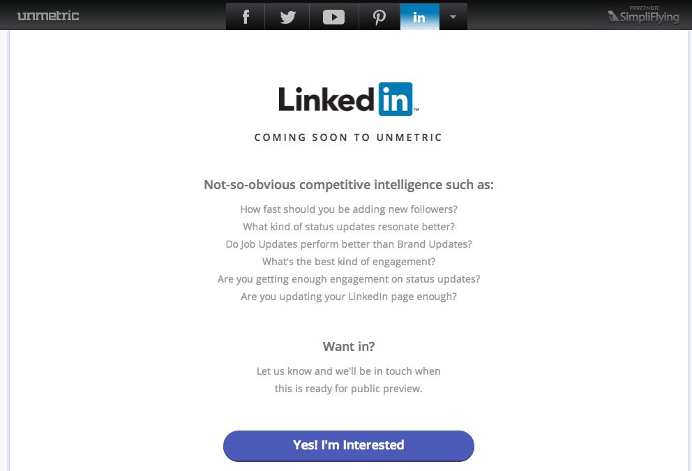 LinkedIn is Coming Soon To Unmetric