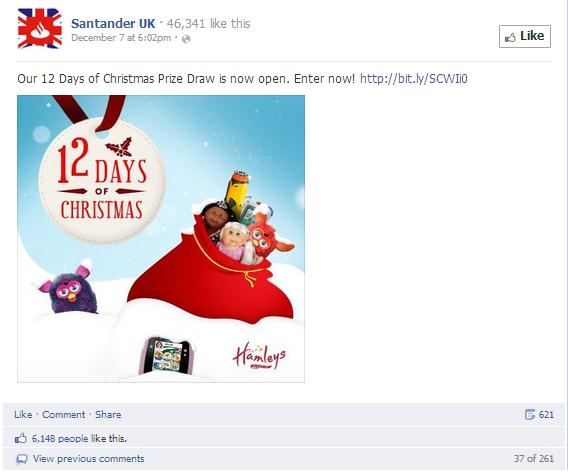 Santander UK Christmas Post