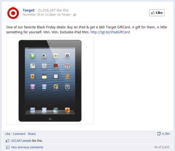 Target's Second Most Engaging Black Friday Post