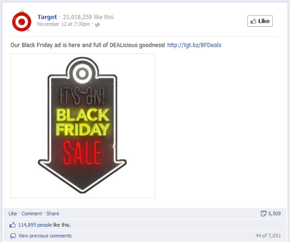 Target's Most Engaging Black Friday Post